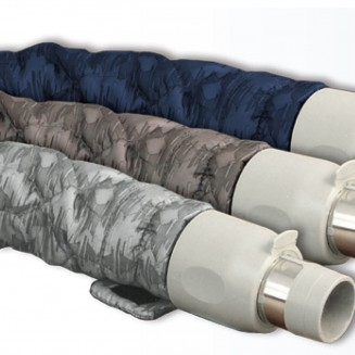 PADDED HOSE COVER 9m ZIP GREY