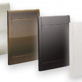 Retraflex wall door  - white, black, stainless steel or antique copper color